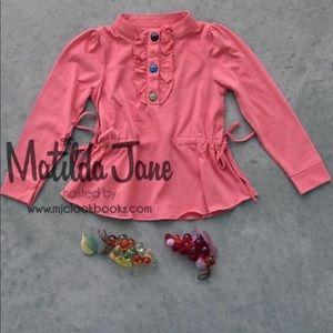 Matilda Jane Field Trip Mabel shirt size 4 EUC
